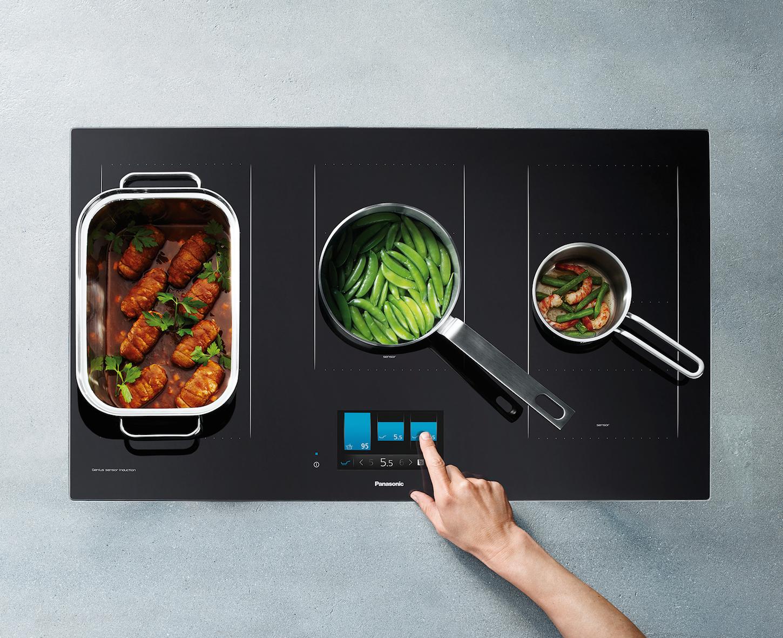 panasonic induktion mit genius sensor technologie mit pr zision zur kulinarischen perfektion. Black Bedroom Furniture Sets. Home Design Ideas