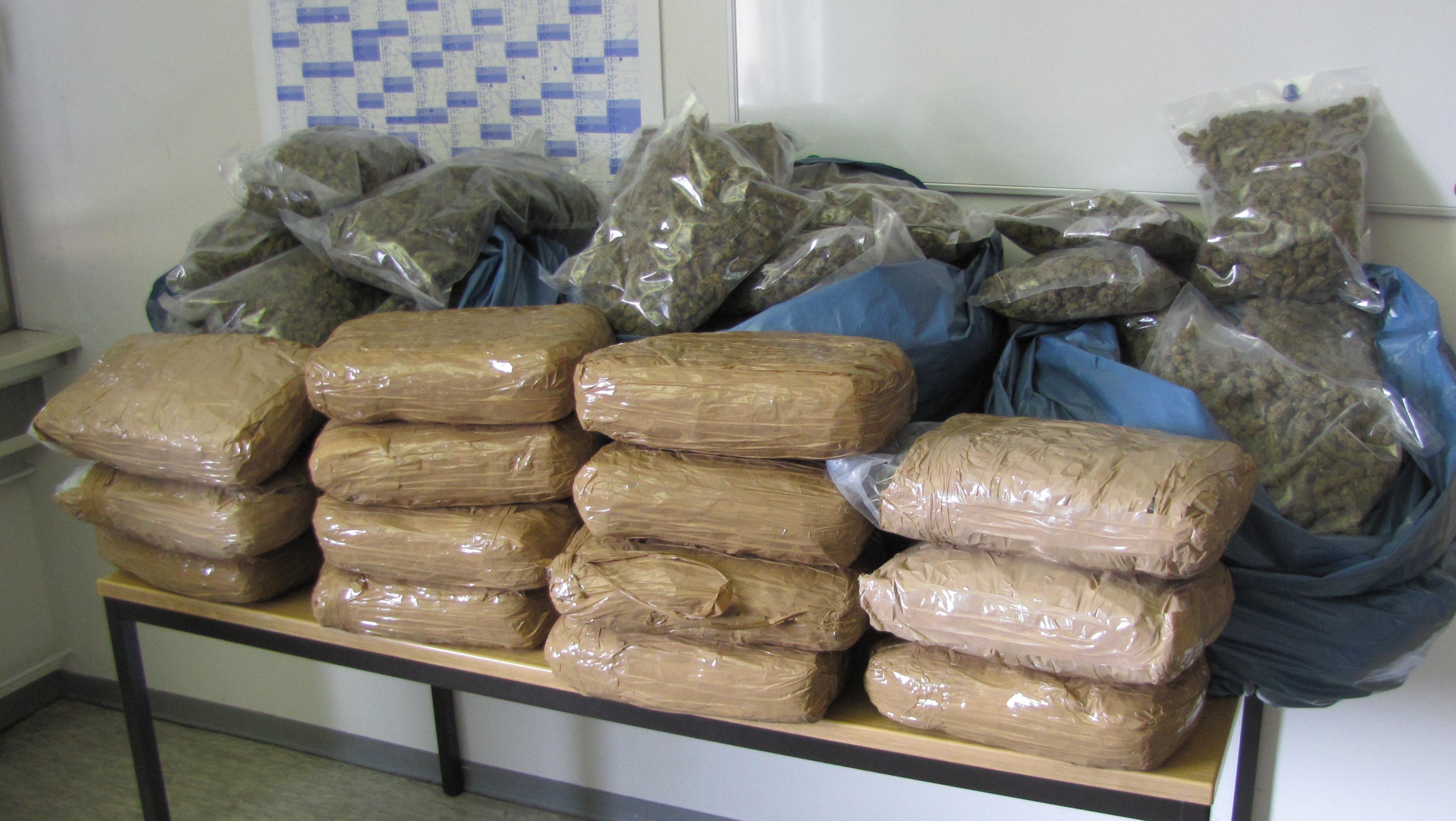 Hessische Polizei stößt zufällig auf mehr als 60 Kilogramm Marihuana