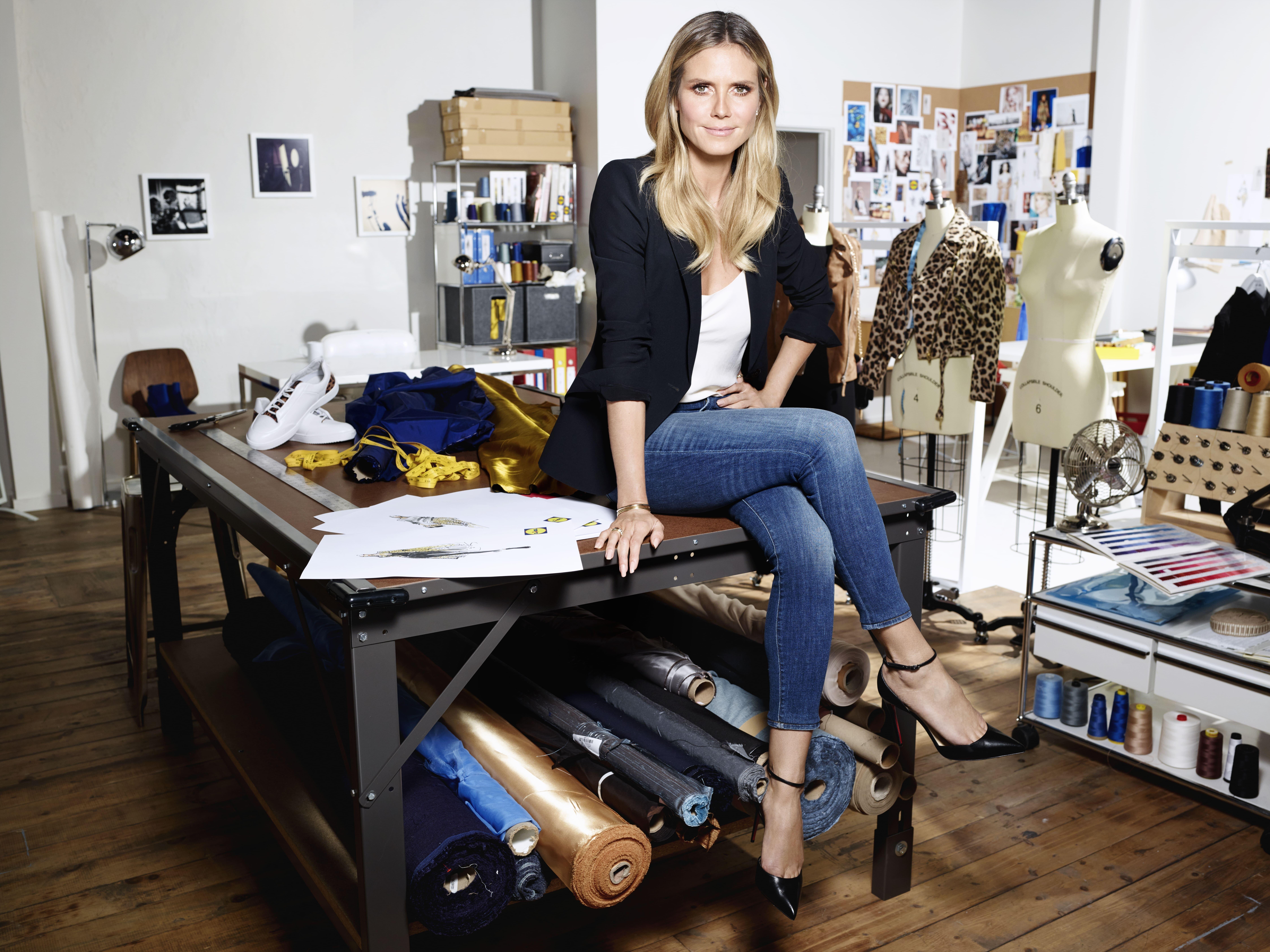 Heidi Klums Lidl-Kollektion feiert Premiere auf der Fashion Week
