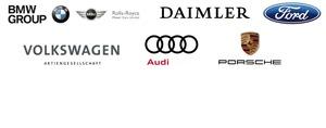 BMW Group, Daimler AG, Ford Motor Company, Volkswagen Konzern, Porsche AG, Audi AG