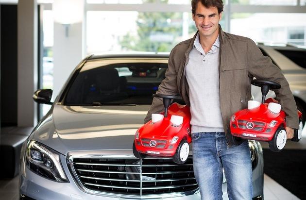 Mercedes-Benz Schweiz AG: Un doppio perfetto / Roger Federer è ambasciatore di Mercedes-Benz Svizzera (IMMAGINE)