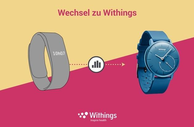 Withings: Wechsel zu Withings / Withings ermöglicht den leichten Gadget-Wechsel und die Mitnahme der eigenen Aktivitätsdaten, zunächst von Fitbit / Withings bietet Nutzern volle Kontrolle über ihre Daten