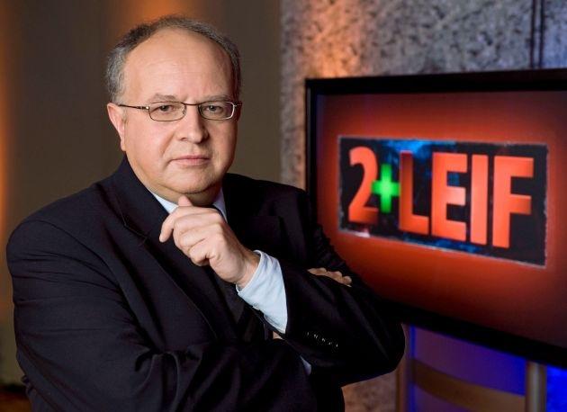 """100 """"2+Leif""""-Jubiläumssendung / Wolfgang Schäuble in """"Leif extra"""" am 16. April 2012, 23 Uhr im SWR Fernsehen"""