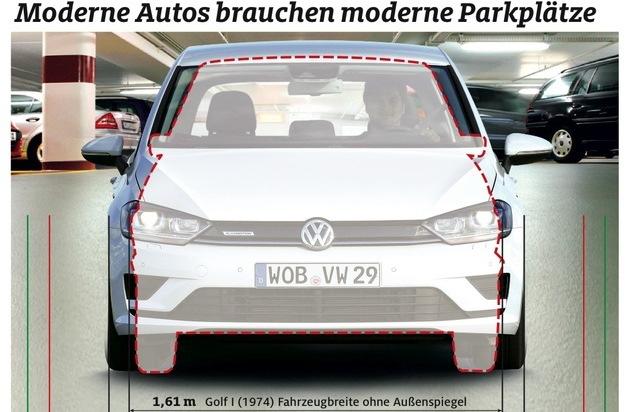 ADAC: Parkhaus-Test: Wenig Platz für moderne Autos / Viele Parkplätze nach wie vor zu schmal und kaum behindertengerecht