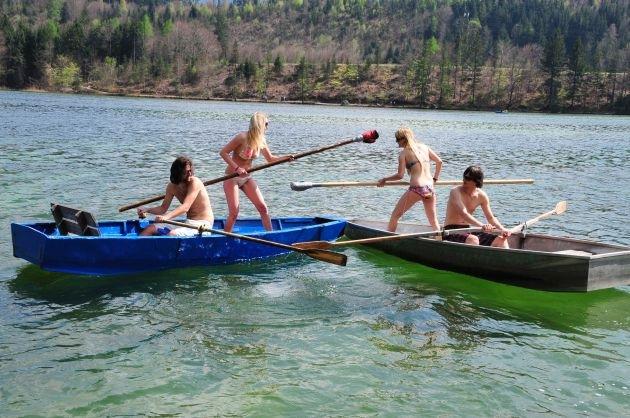 """Sommeropening """"Fischerstechen"""" im Alpbachtal Seenland"""