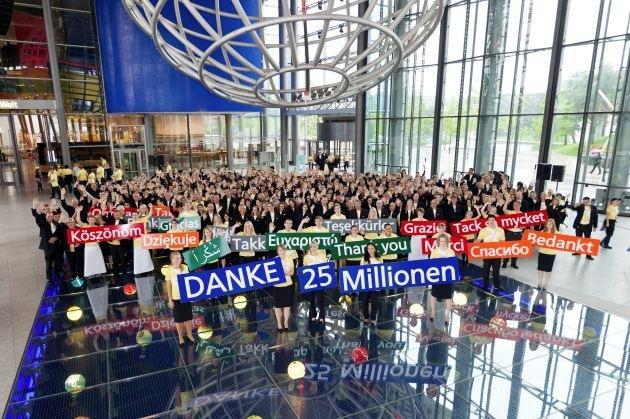 25 Millionen Gäste in der Autostadt in Wolfsburg