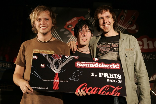 """Die Modern Day Heroes sind die Helden des """"MyCokemusic Soundcheck 2007"""""""