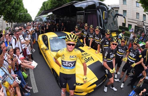 Ford-Werke GmbH: Ford feiert den Tour de France-Sieg mit Christopher Froome und Team Sky