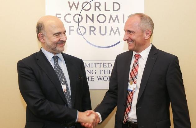 ikr  Regierungschef Adrian Hasler trifft Politik  und Wirtschaftsvertreter am WEF