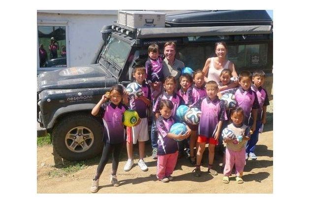 Stiftung Mittagskinder: Am Ziel: Für die Stiftung Mittagskinder bis in die Mongolei