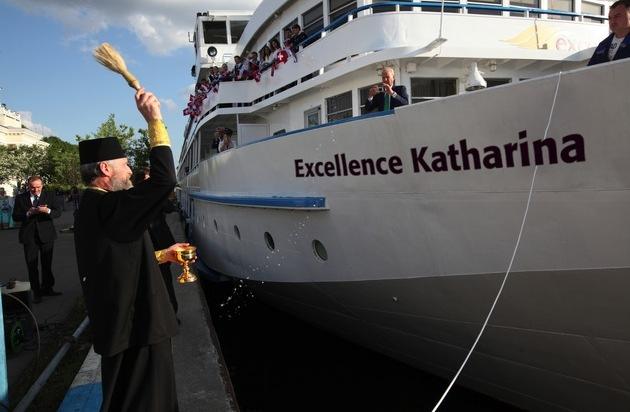 Reisebüro Mittelthurgau Fluss- und Kreuzfahrten: Flussschiff Excellence Katharina in Moskau getauft