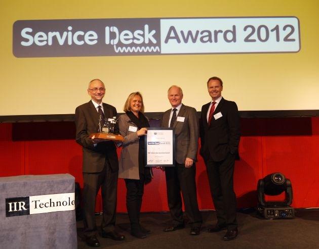 BWI gewinnt Service Desk Award 2012 / User Help Desk für die Bundeswehr ausgezeichnet