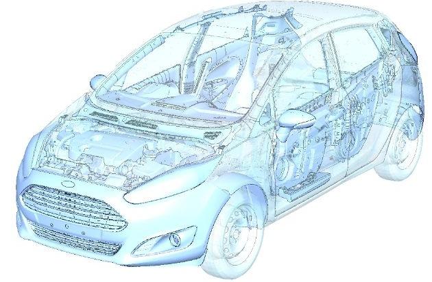 Ford-Werke GmbH: Ford: Durchbruch bei virtuellen Tests zur Entwicklung von leichten, faserverstärkten Kunststoff-Komponenten