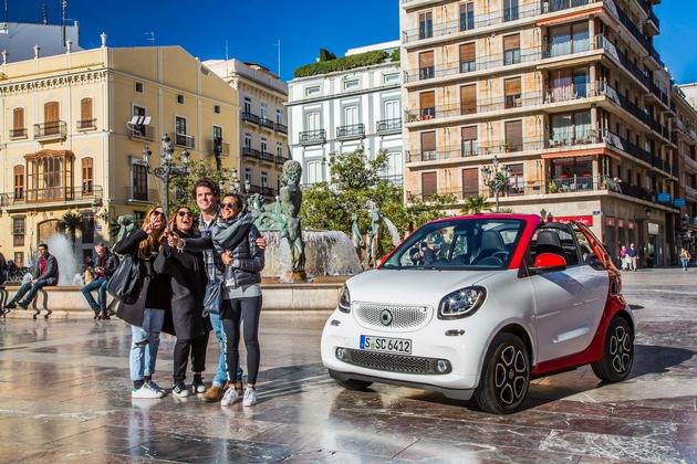Nouvelle smart fortwo cabrio: La citadine estivale