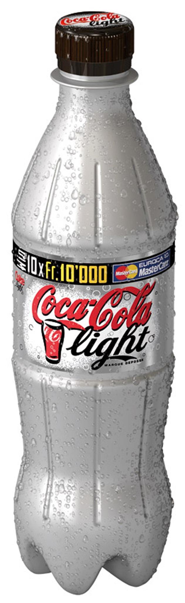 Coca-Cola light im silbernen Kleid: Startschuss zur Coca-Cola light Silver Bottle Promotion
