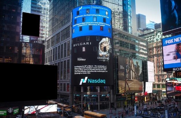Bulgari: Weltpremiere der ersten Intelligent Watch / Die Bulgari Diagono Magnesium, durch WiSeKey gesichert, wurde auf der BaselWorld vorgestellt