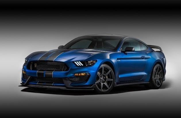 Ford-Werke GmbH: Kein Serien-Mustang ist schneller: Neuer Shelby GT350-R Mustang feiert Debüt auf der Detroit Motor Show