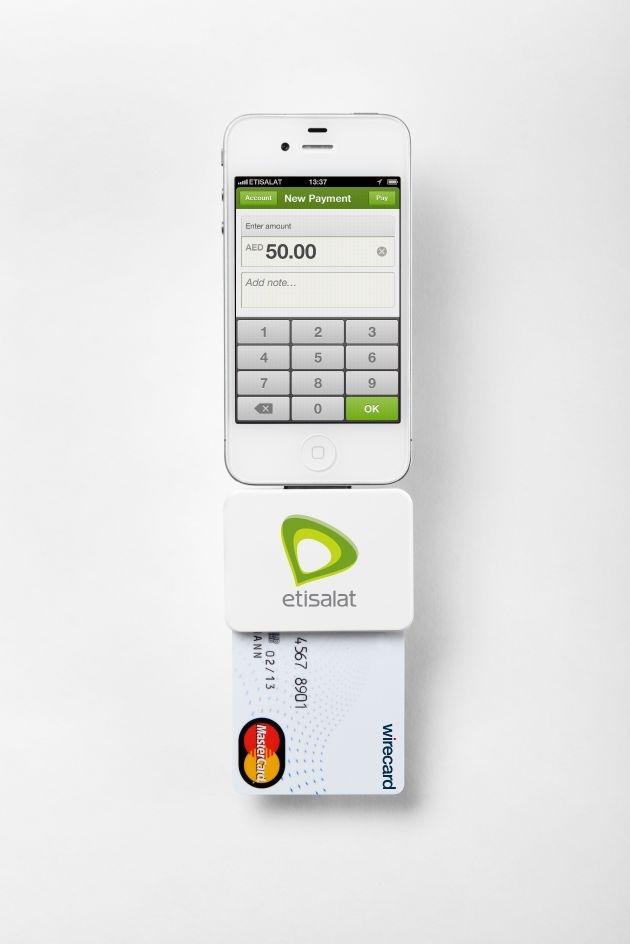 Mobile World Congress 2013: Etisalat und Wirecard präsentieren mobile Bezahllösungen / Kontaktlose Zahlungen über NFC-Technologie / Smartphones als Zahlungsterminal mit Kreditkartenakzeptanz