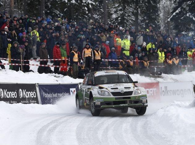 Sepp Wiegand/Frank Christian bei der Rallye Schweden auf Podest-Kurs  in der WRC 2!