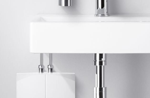 ideal und effizient am handwaschbecken intelligente mini durchlauferhitzer sparen energie und. Black Bedroom Furniture Sets. Home Design Ideas