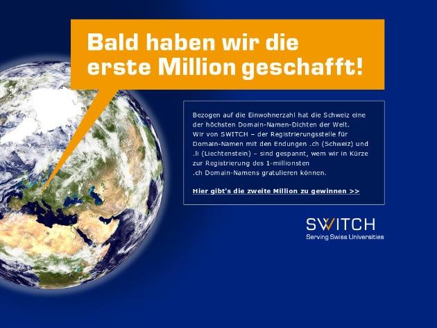 SWITCH: Bald eine Million Domain-Namen in der Schweiz