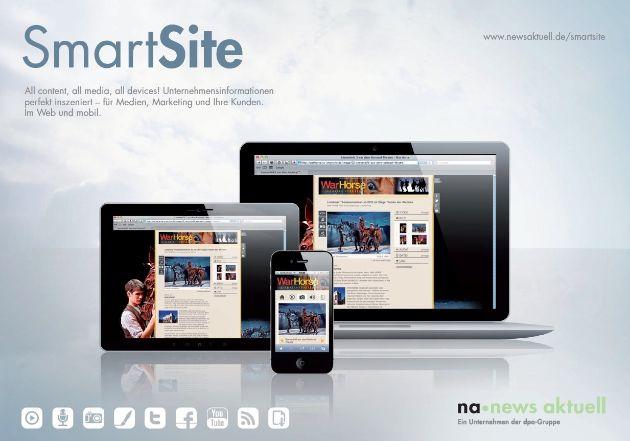 All content, all media, all devices: dpa-Tochter news aktuell startet SmartSites (BILD)