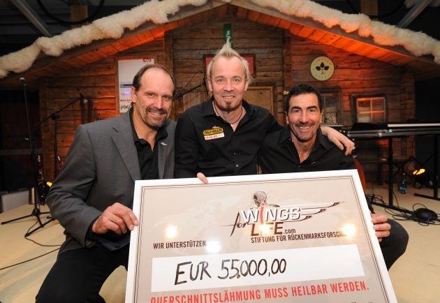 TirolBerg-Partner spenden 55.000 Euro an Wings for Life