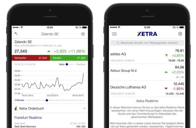 """Deutsche Börse AG: """"Börse Frankfurt""""-App zeigt beste Kauf- und Verkaufspreise auf Xetra für registrierte Nutzer in Echtzeit"""