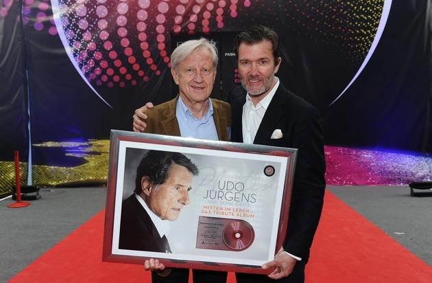 Publicum pmi AG: Ehrung von Udo Jürgens am Eurovision Song Contest in Wien: 7 mal Doppelplatin, Platin und Gold
