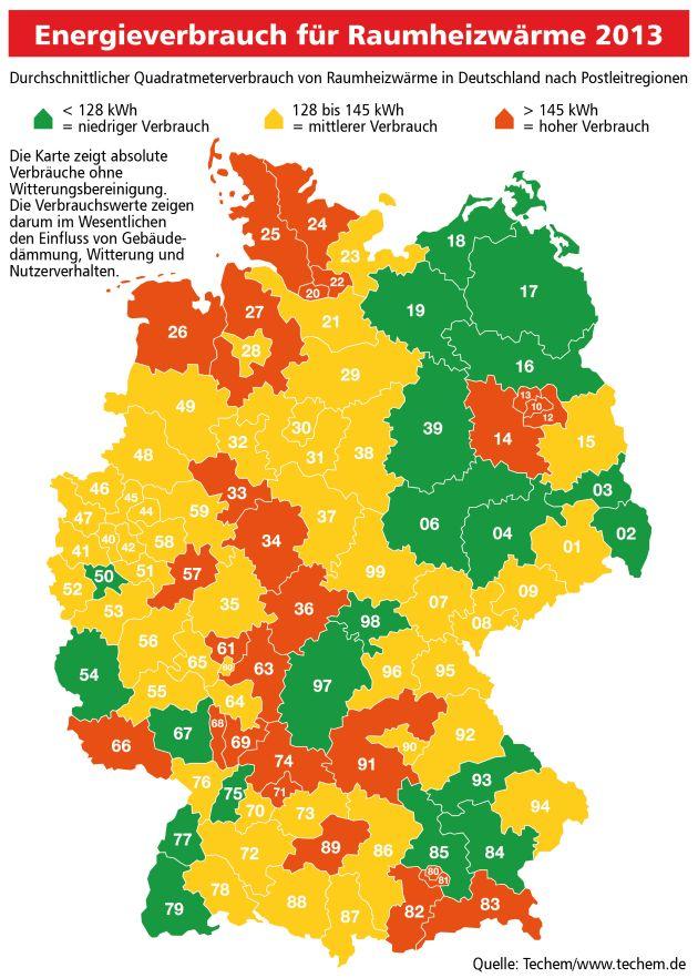 Energieeffizienz in Immobilien: kaum Fortschritte, merkliche regionale Unterschiede