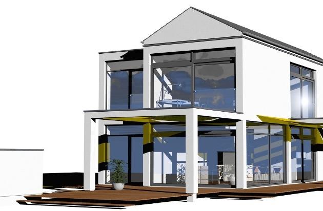 das haus der zukunft moderne architektur mit viel glas pressemitteilung gruner jahr sch ner. Black Bedroom Furniture Sets. Home Design Ideas
