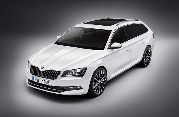 Skoda Auto Deutschland GmbH: Neuer SKODA Superb Combi ab sofort bestellbar