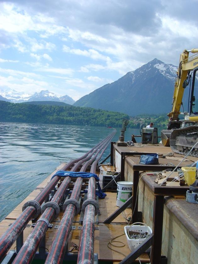 Es herrscht wieder Spannung zwischen Spiez und Oberhofen: BKW-Seekabel in Betrieb genommen