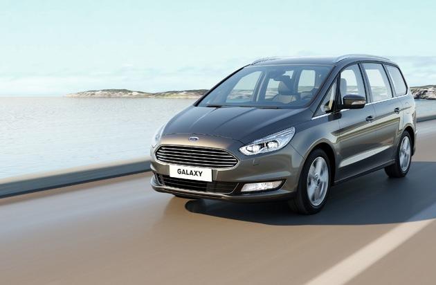 Ford-Werke GmbH: Neuer Ford Galaxy: Luxuriöser Siebensitzer mit First-Class-Reisekomfort und hochmodernen Technologien