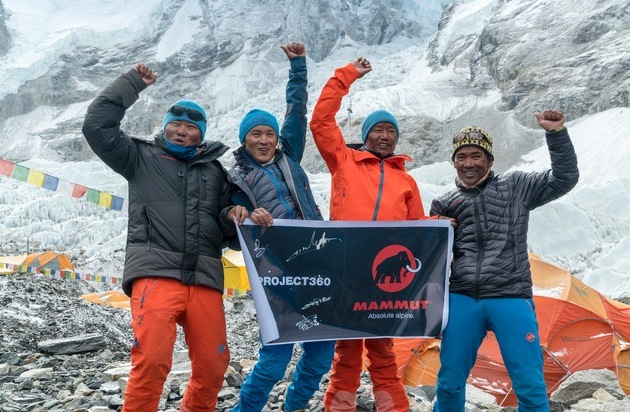 Mammut Sports Group AG: #project360 erobert den Mt. Everest / Erste Dokumentation der Südroute mit einer 360° Kamera für Mammut's #project360