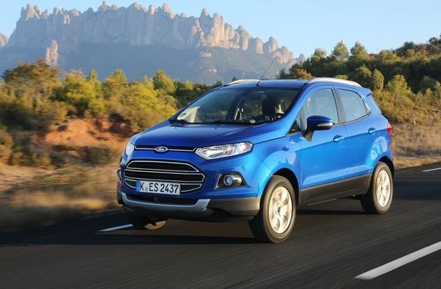 Ford-Werke GmbH: Ford EcoSport ab sofort mit vielen Detailverbesserungen