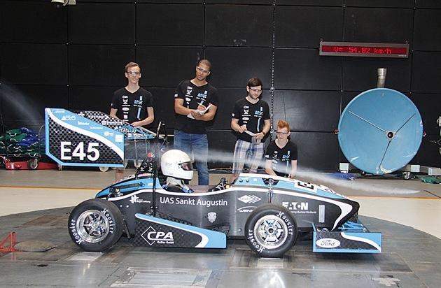 Ford-Werke GmbH: Mit Rückenwind aus dem Windkanal: Ford unterstützt Elektromobilität in der Formula Student