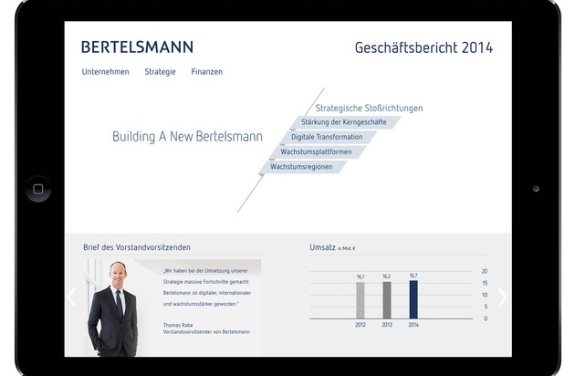 Bertelsmann SE & Co. KGaA: Bertelsmann informiert multimedial über strategische Fortschritte