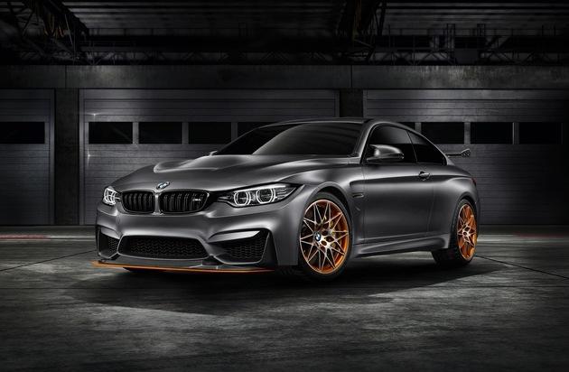 BMW Group: BMW Concept M4 GTS / BMW M GmbH gibt Ausblick auf ein hochemotionales, innovatives und exklusives Sondermodell mit herausragenden Rennstreckenqualitäten