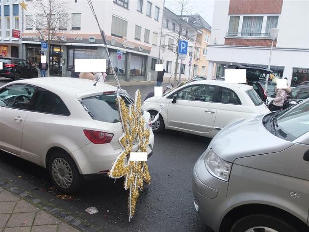 POL-DN: Weihnachtsbeleuchtung in der Innenstadt fiel herab