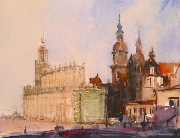 """Ausstellung """"Rolf Meyn (1930 - 2013): Stadtansichten Dresden / Hamburg"""""""