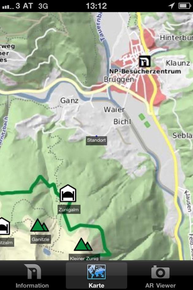 Gipfeltreffen am Handy - Nationalpark mit neuer Handy APP am Start - BILD