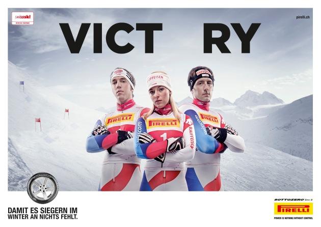Pirelli ist neu offizieller Partner von Swiss-Ski