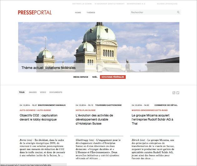 Le nouveau Presseportal est en ligne