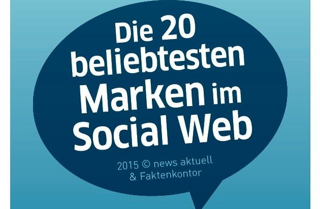 news aktuell GmbH: Beliebteste Marken im Social Web: Apple stößt Amazon vom Thron