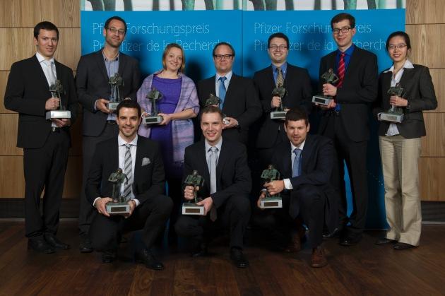 Junge Schweizer Spitzenforscher ausgezeichnet / Zum 23. Mal zeichnet die Stiftung Pfizer Forschungspreis junge Wissenschaftler aus (BILD)