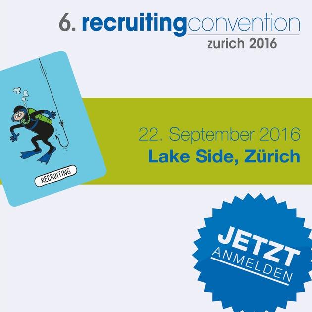 6. recruitingconvention zurich am 22.9.2016 im Lake Side / Die recruitingconvention hat sich als beliebte und erfolgreiche Rekrutierungs-Tagung etabliert und findet dieses Jahr zum sechsten Mal statt