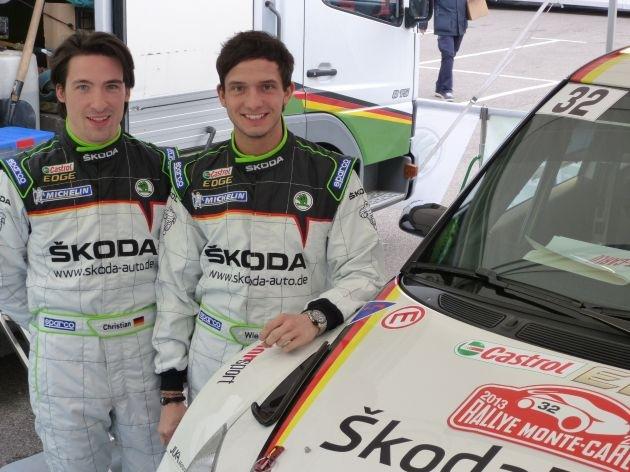 SKODA Junior Sepp Wiegand startet bei der Rallye Monte Carlo in der WRC 2
