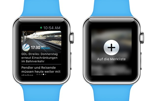 Sat.1 Norddeutschland GmbH: Sat.1 Regional stellt App für die Apple Watch vor