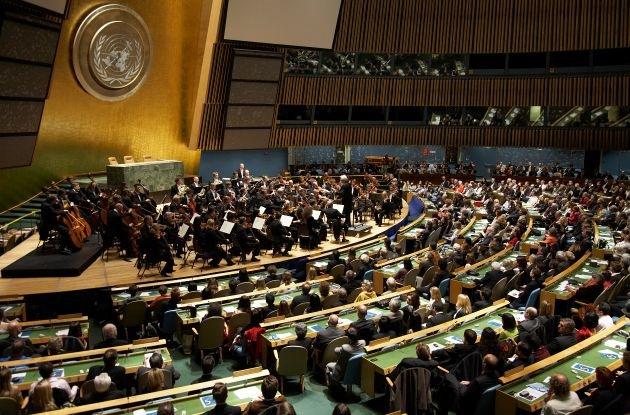 NDR Sinfonieorchester vor der UNO: Konzert zum 50. Jahrestag der Römischen Verträge